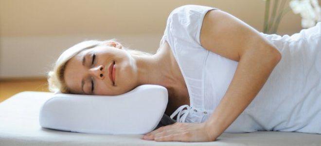 Правильное положение шеи во время сна при остеохондрозе