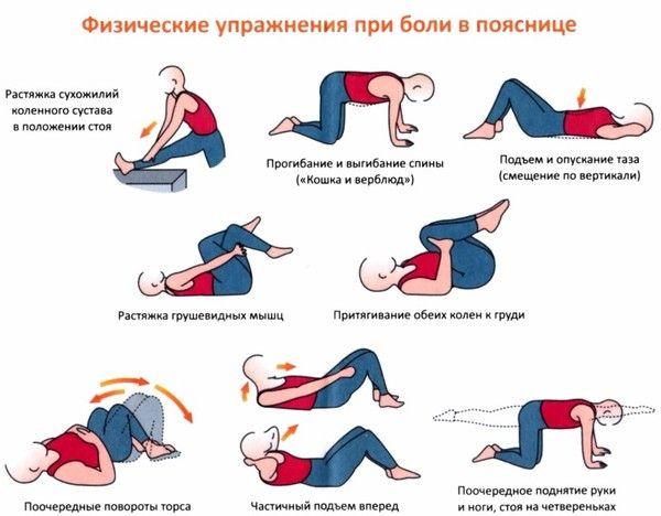 Упражнения при остеохондрозе пояснично-крестцового отдела позвоночника.